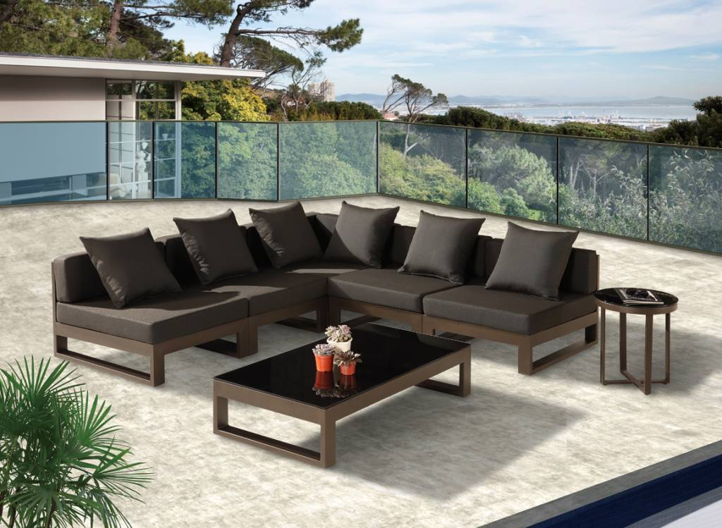 amber v shape sectional sofa set for 5 with coffee table