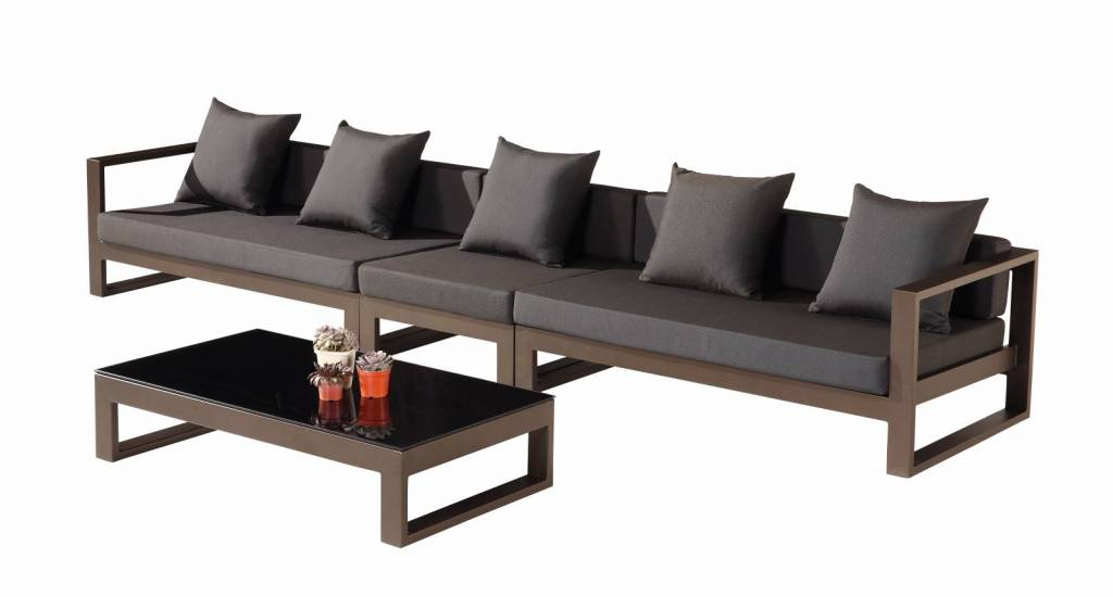 Amber Modern Outdoor 5 Seater Modular Sofa Set - Icon Outdoor Contract