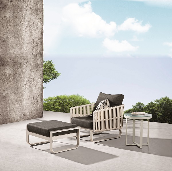 Magnificent Apricot Modern Outdoor Club Chair With Ottoman Set Icon Cjindustries Chair Design For Home Cjindustriesco
